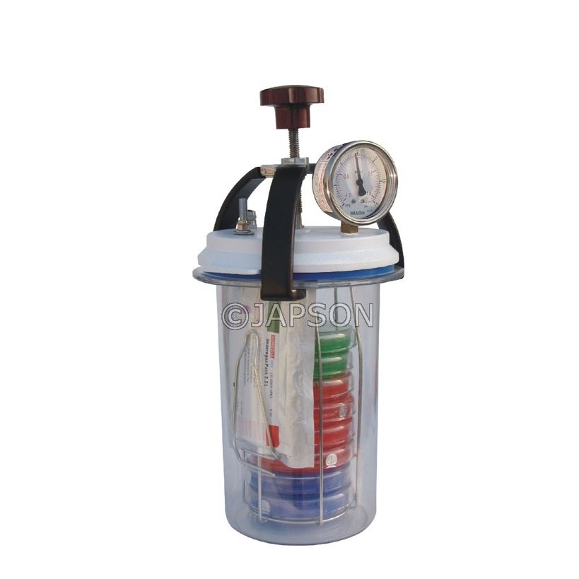Anaerobic Culture Jar 3.5 Litre with Vaccum cum Pressure Gauge