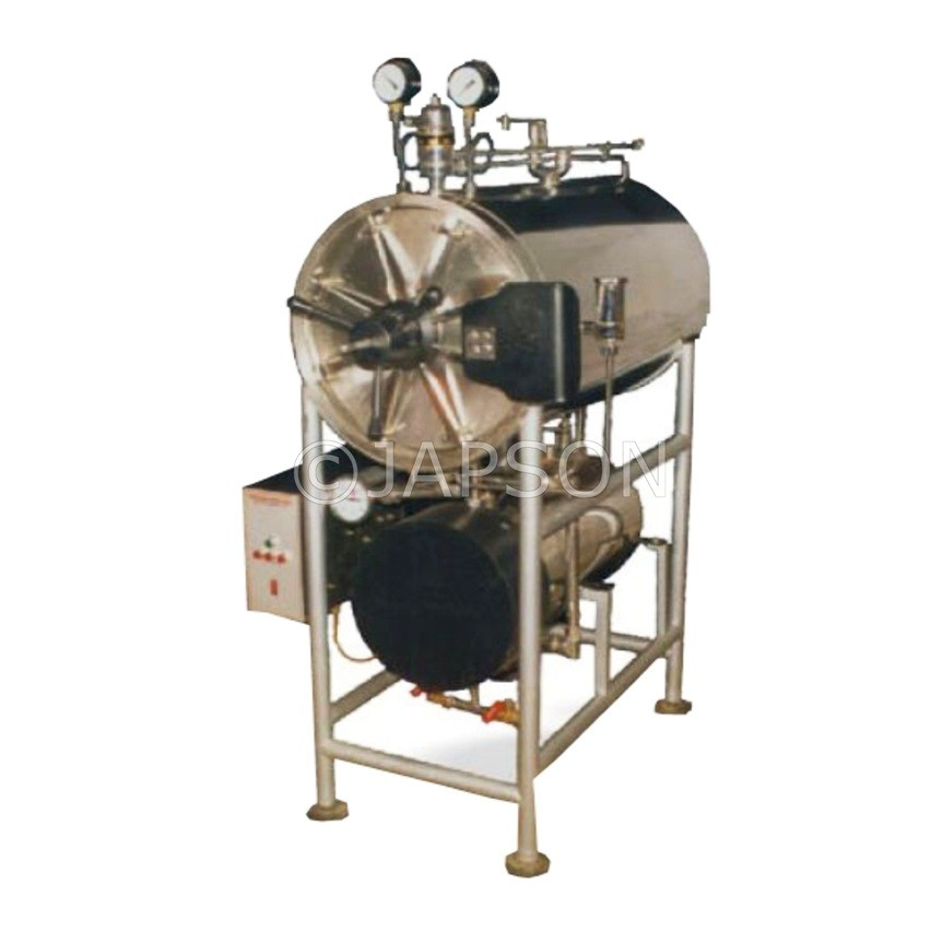 Autoclave, Horizontal, Cylindrical, Double Wall