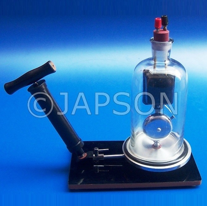Bell in Bell Jar with Plate & Vacuum Pump Plate