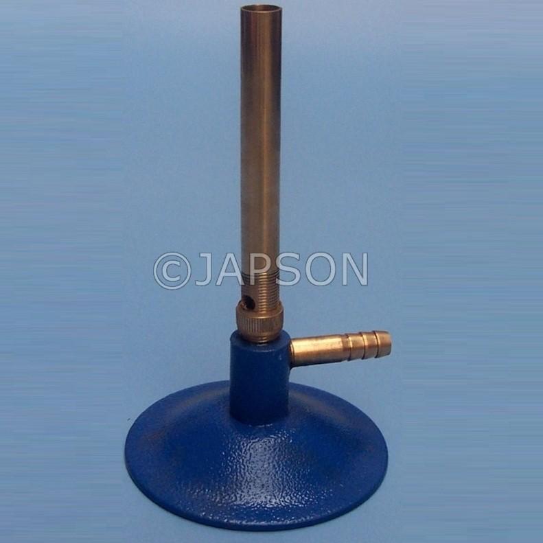 Bunsen Burner, Economy, Iron Chrome Plated Pipe