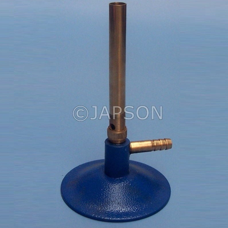 Bunsen Burner, Economy, Iron Chrome Plated Pipe