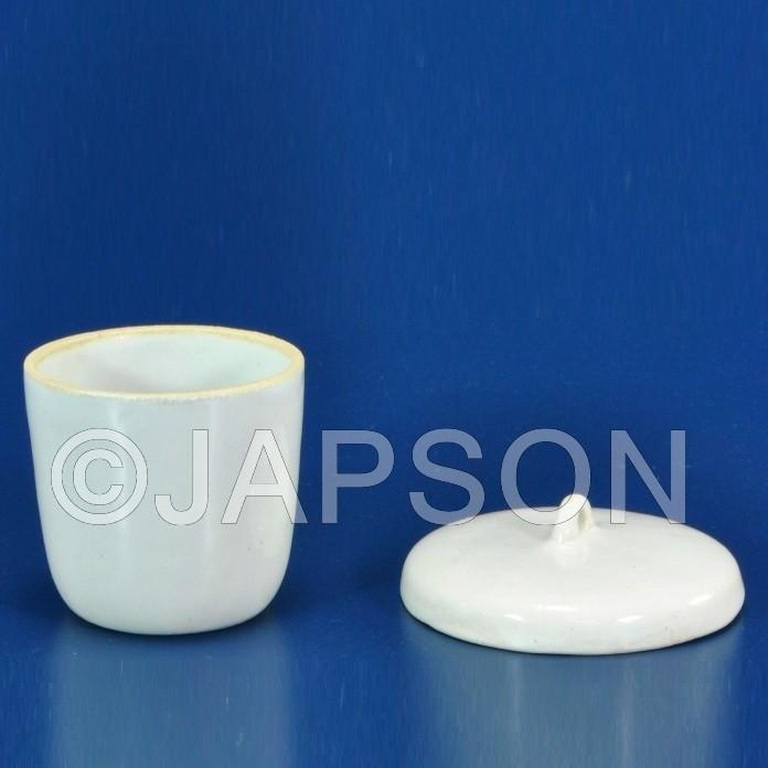 Crucible, Porcelain, Tall Form