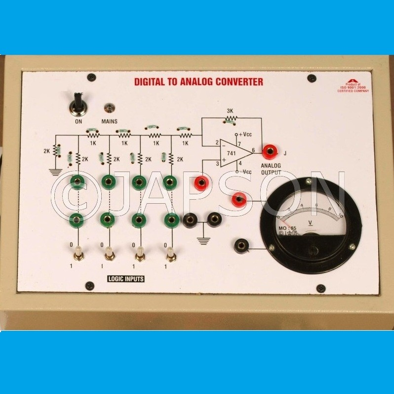 Digital to Analog (D/A) Convertor using R-2R Network Experiment Apparatus