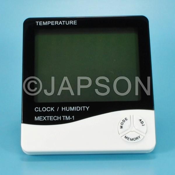 Hygrometer with Temperature, Digital