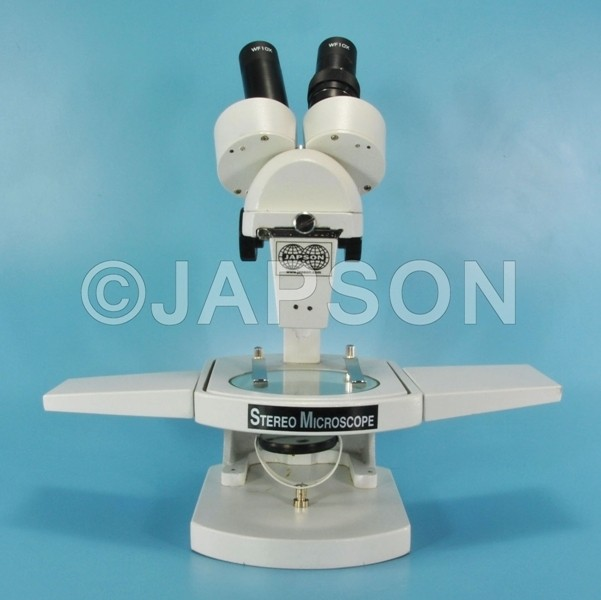 Inclined Stereo Microscope, with Attachable Base and Mirror Illumination