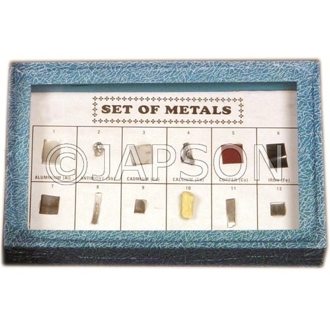 Metal Set, Collection of 12 Metals
