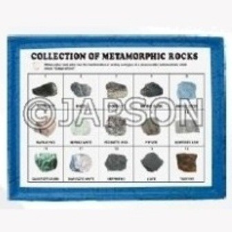 Metamorphic Rocks Set, Collection of 15 Metamorphic Rocks