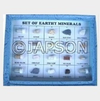 Mineral Set, Collection of 20 Earthy Minerals