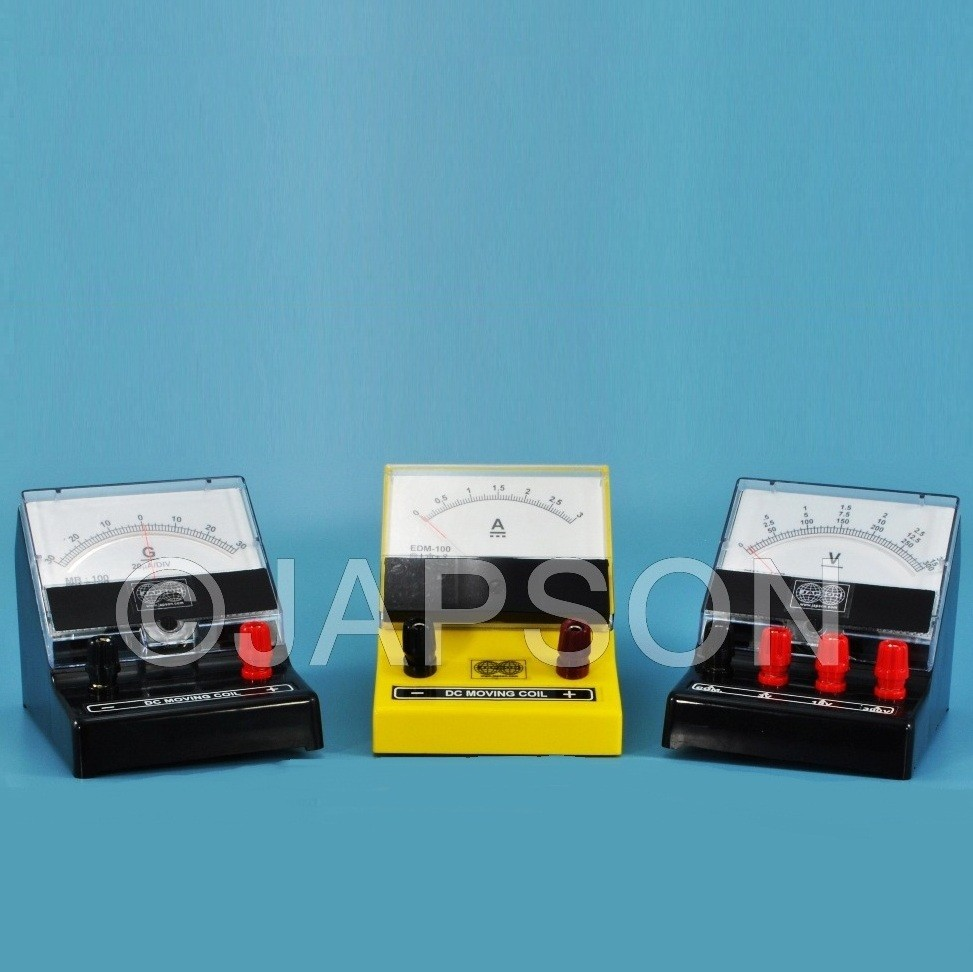 Moving Coil Meter, Rectangular Dial, Front Terminal, Superior, (Ammeters, Milli-Ammeters, Micro-Ammeters, Voltmeters and Galvanometer)