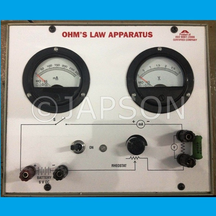 Ohms Law Apparatus with Power Supply