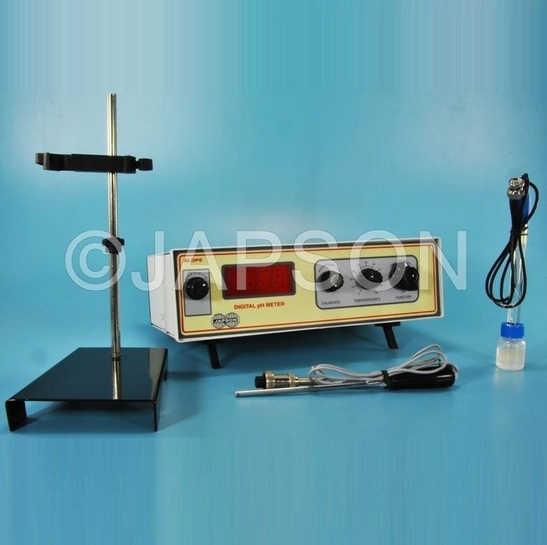 pH, Conductivity & Temperature Meter, Digital, Table Model