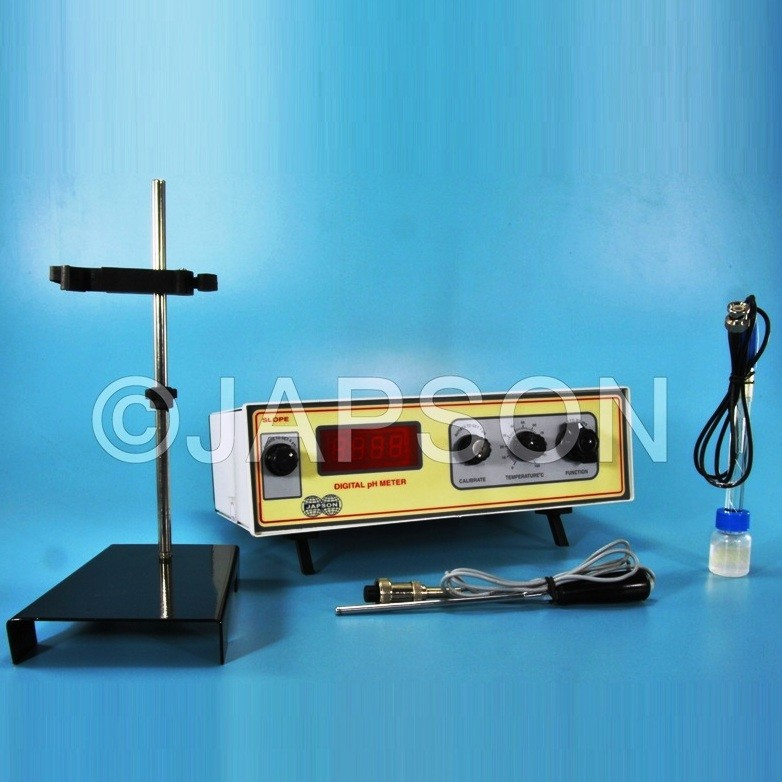 pH cum Temperature Meter, Digital, Table Model