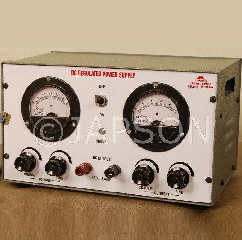 Power Supply with Digital/Analog Meter, Continuous Type, 0-12V AC/DC 1 Amp, Regulated, Constant Current-Constant Voltage