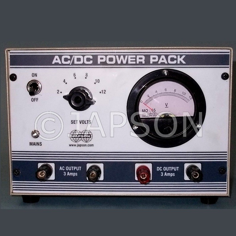 Power Supply with Analog Meter, Step Type, 0-12V AC/DC 2 Amp