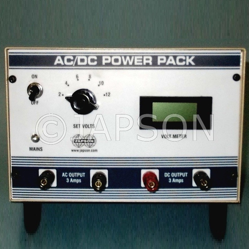 Power Supply with Digital Meter, Step Type, 0-12V AC/DC 2 Amp