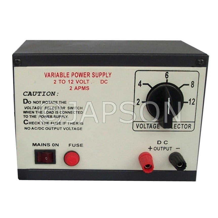 Power Supply without Meter, Step Type, 0-12V AC/DC 1 Amp
