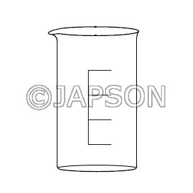 Quartz Beaker Tall Form with Spout