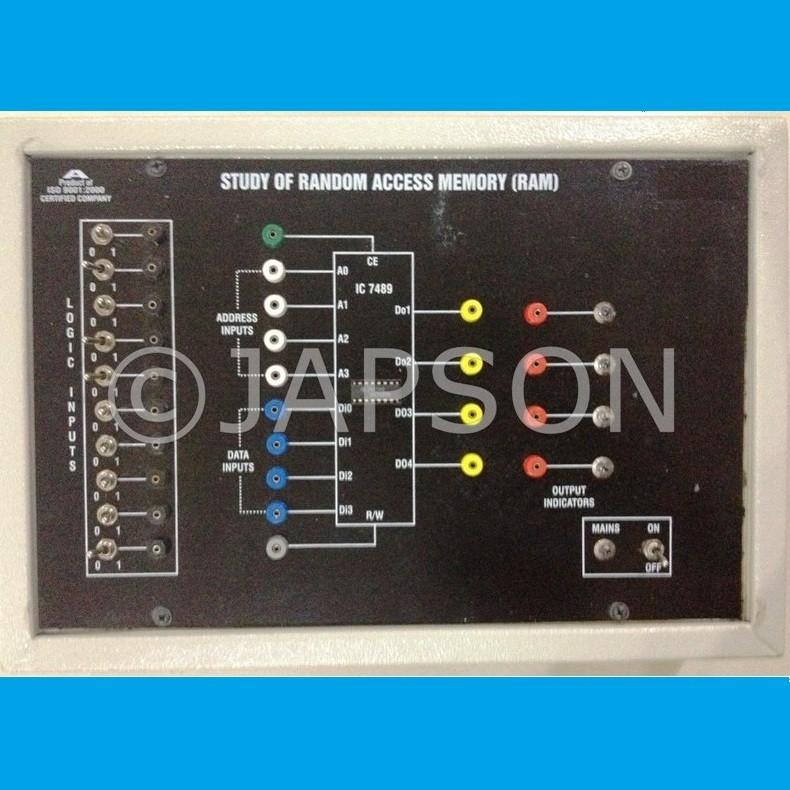 RAM Circuit using IC 7489 Experiment Apparatus