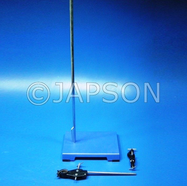 Retort Stand, Complete Set with Clamp and Boss Head