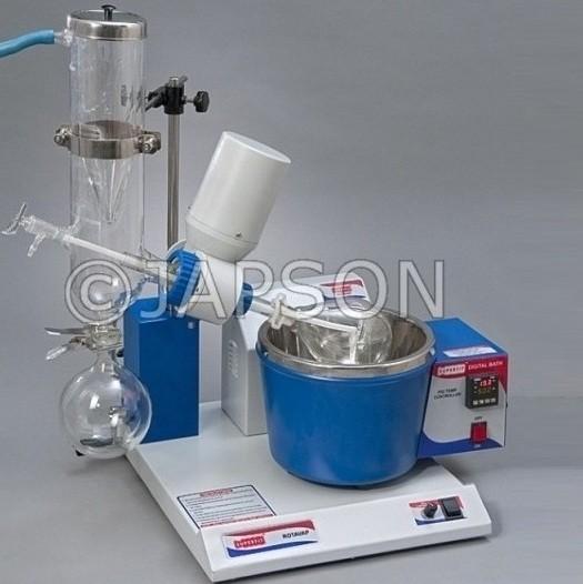 Rotary Vacuum Evaporator, Cold Trap Condenser, Digital Temperature Control