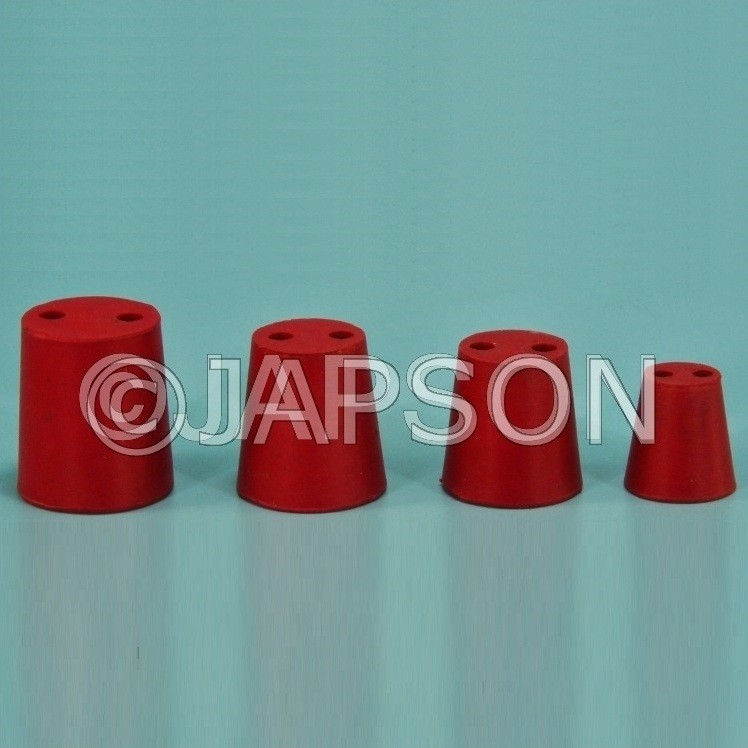 Rubber Corks with Two holes