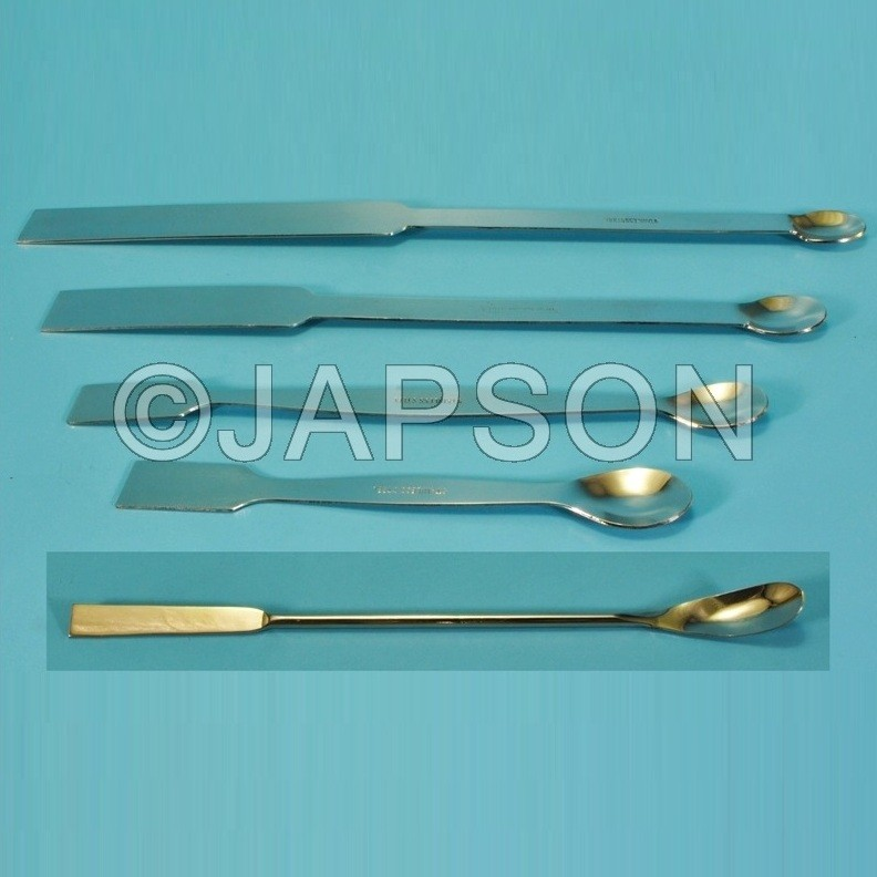 Spatula, Superior, Laboratory, One Side Flat, One Side Spoon