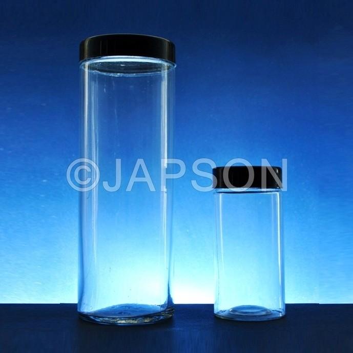 Specimen Jar, with Plastic Caps