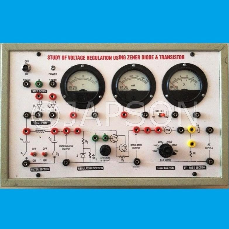 Study of Voltage Regulation using Zener Diode & Transistors
