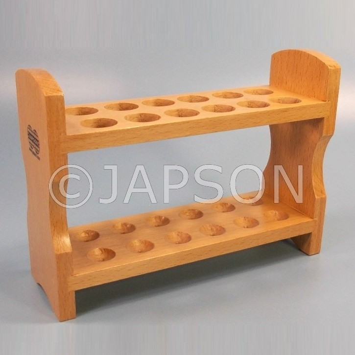 Test Tube Stand, Wooden, Without Drying Pegs