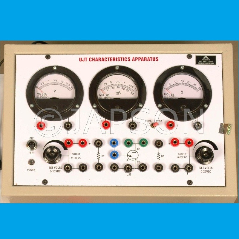 UJT Characteristics Apparatus with Regulated Power Supplies