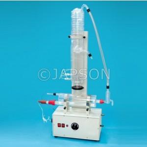 All Quartz Double Distillaton Apparatus, Horizontal Model