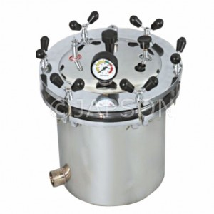 Autoclave, Portable, Stainless Steel, Wing Nut Type (Sterilizer Pressure Type)