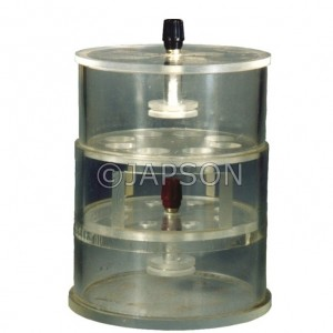 Bar Gel Polyacrylamide Electrophoresis Apparatus Circular