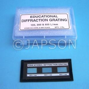 Demonstration Diffraction Grating Slide