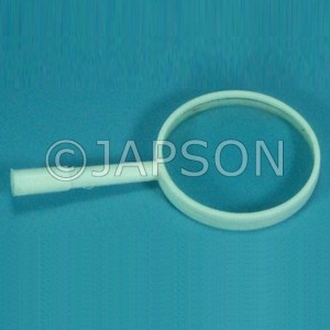 Hand Lens with White Plastic Handle