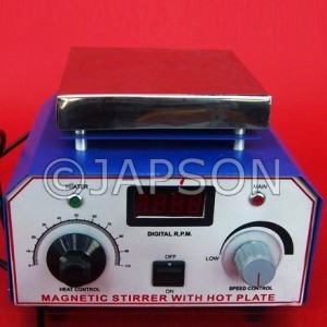 Magnetic Stirrer with Hot Plate, Digital RPM & Temperature
