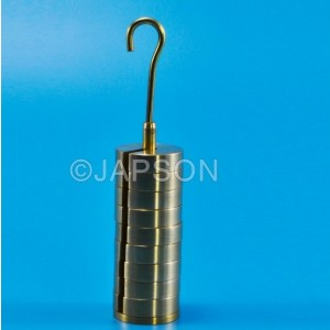 Masses (Weights) Set, Slotted, Brass