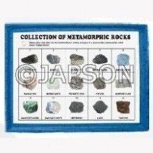 Metamorphic Rocks Set, Collection of 15 Metamorphic Rocks