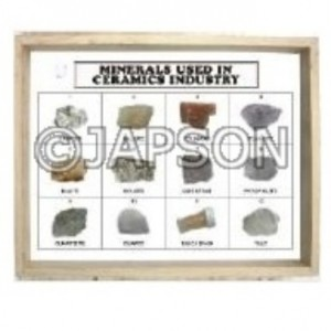 Minerals Used in Ceramics Industry, Set of 10