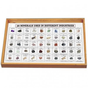 Minerals Used in Different Industry, Set of 50