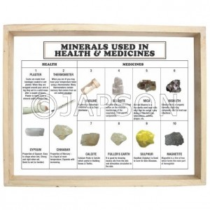 Minerals Used in Health & Medicine, Set of 10