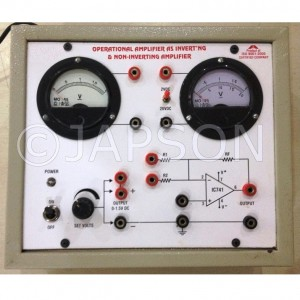 Operational Amplifier as Inverting & Non Inverting Amplifier Experiment Apparatus