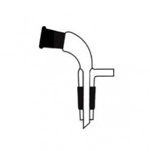 Receiver Adapter, Bent With Vacuum Connection, Socket To Cone