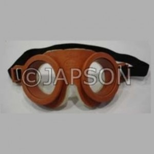 Red Rubber Gas Tight Goggles