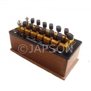 Resistance Box Plug Type (Constantan / Manganin Coil)
