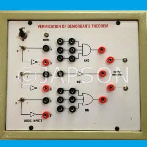 Verification of De Morgan Theorems Experiment Apparatus