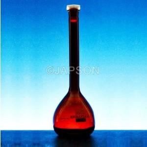 Volumetric Flask, Amber