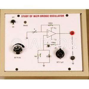 Wein Bridge Oscillator using Operational Amplifier IC 741 Experiment Apparatus