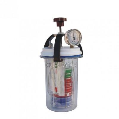 Anaerobic Culture Jar 3.5 Litre with Vaccum cum Pressure Gauge