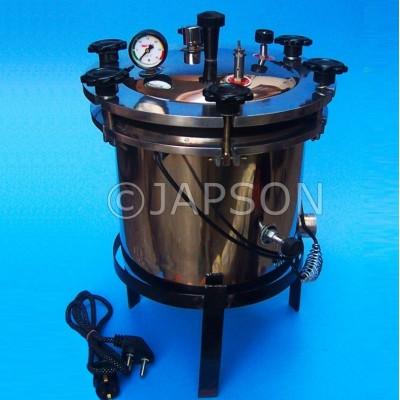 Autoclave, Portable, Aluminium Wing Nut Type (Sterilizer Pressure Type)